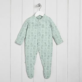 Wild Cotton Organic Sleepsuit - Rabbit