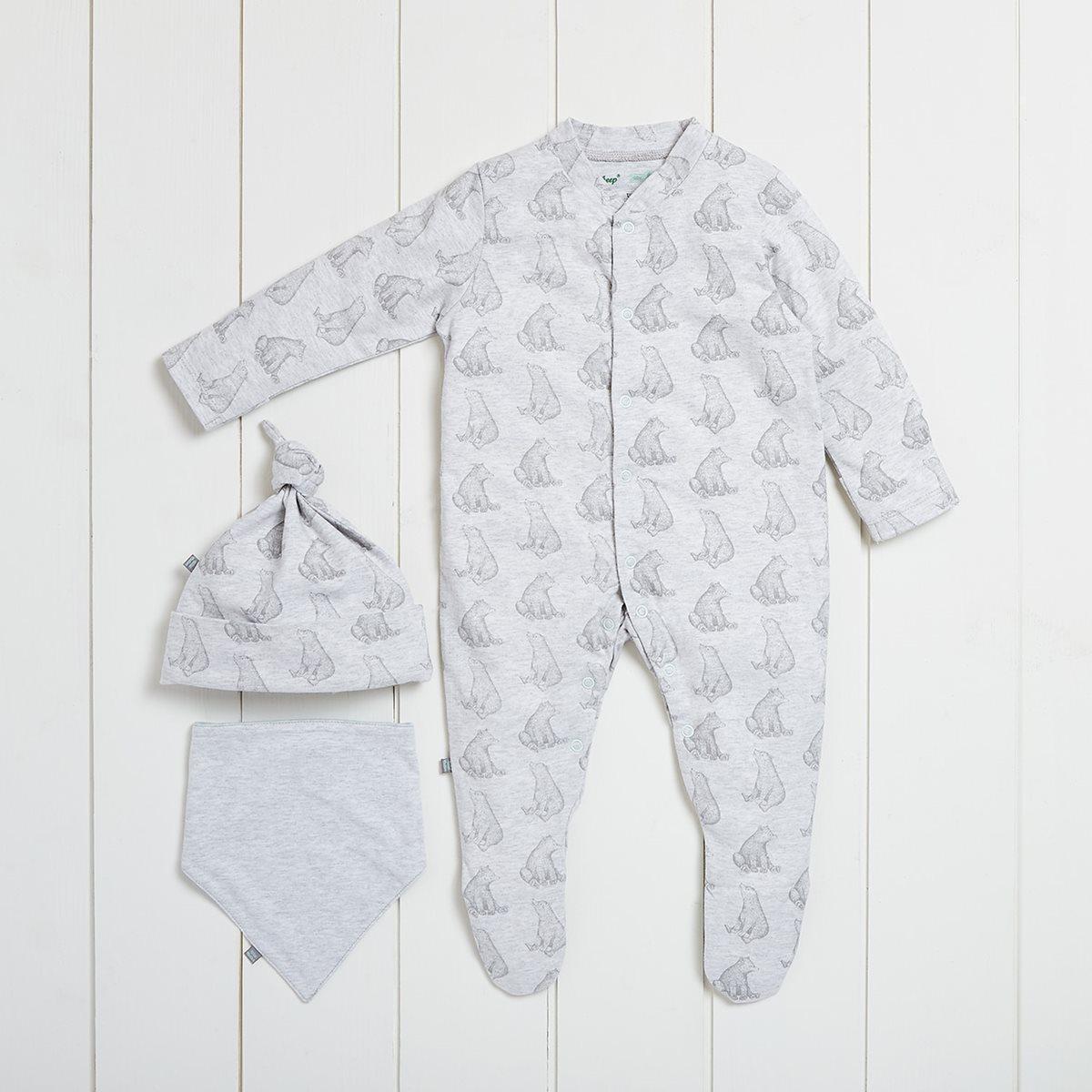 5d56786699e5 100% Organic Baby Gift Set - Bear Print