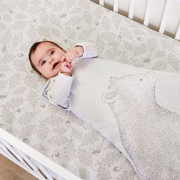 Wild Cotton Organic Cot & Cot Bed Fitted Sheet - Woodland