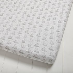 Wild Cotton Organic Cot & Cot Bed Fitted Sheet - Bear