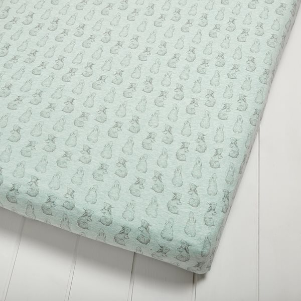 Wild Cotton Organic Cot & Cot Bed Fitted Sheet - Rabbit