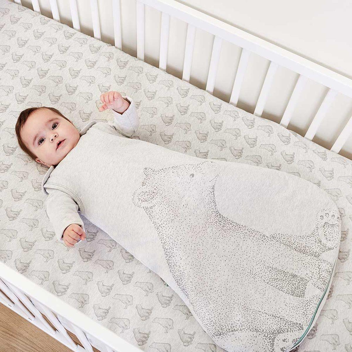 Bear Print Organic Sleeping Bag 2 5 Tog