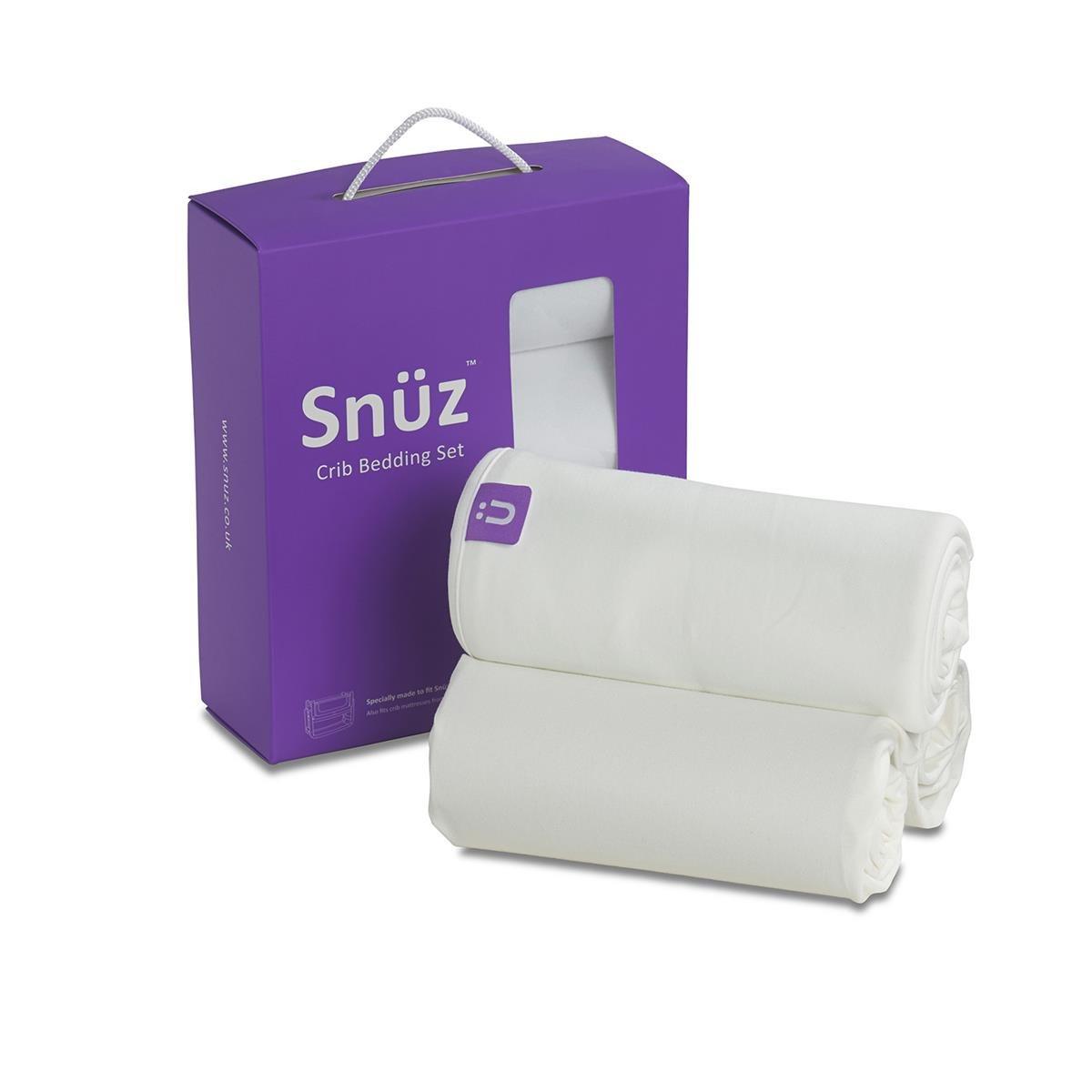 Baby crib for sale redditch - Snuzpod Crib Bedding Set White
