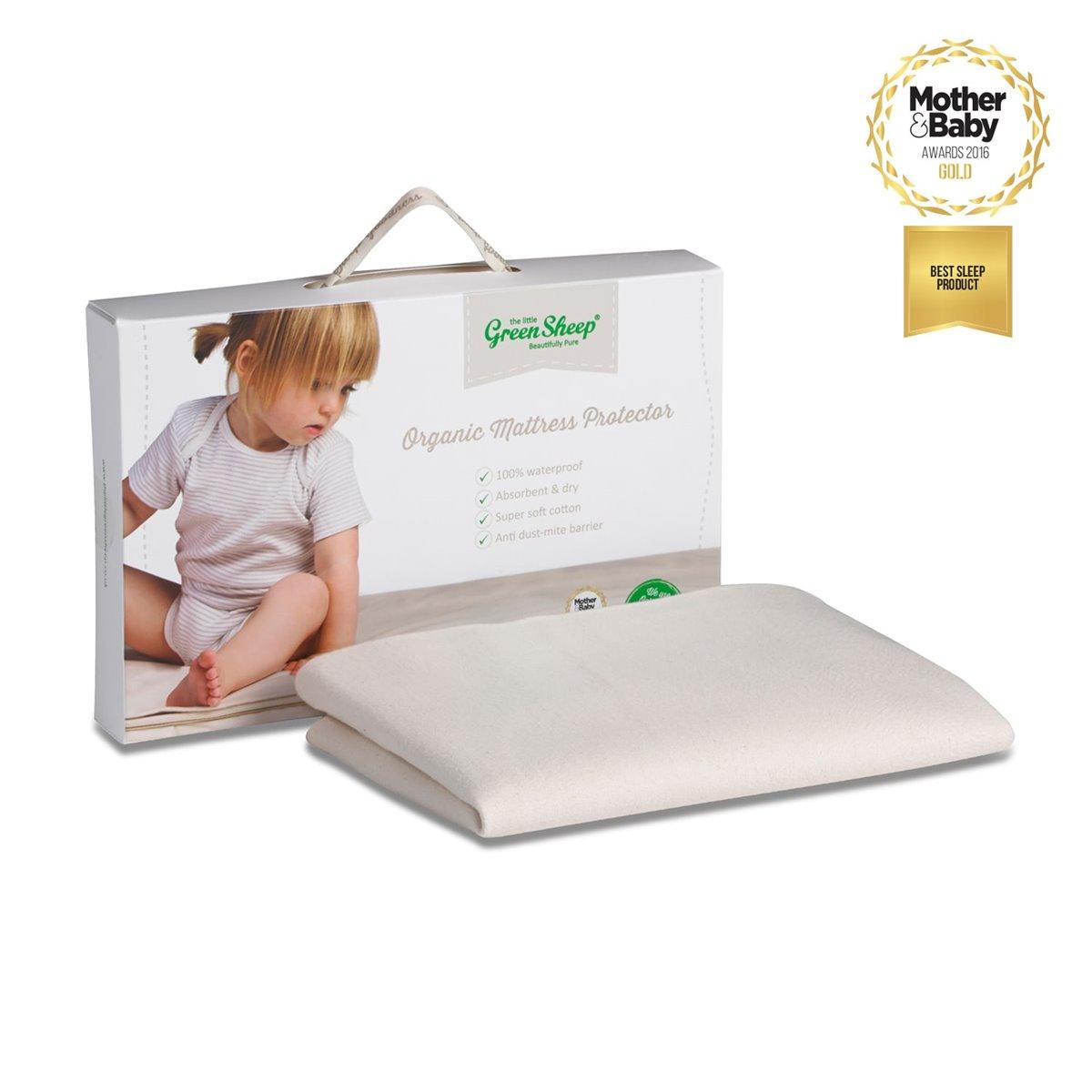 Waterproof Crib Mattress Protector 38x39cm The Little Green Sheep