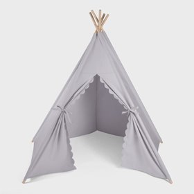 Kids Teepee Play Tent - Grey