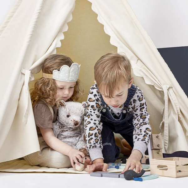 Kids Teepee Play Tent - Linen