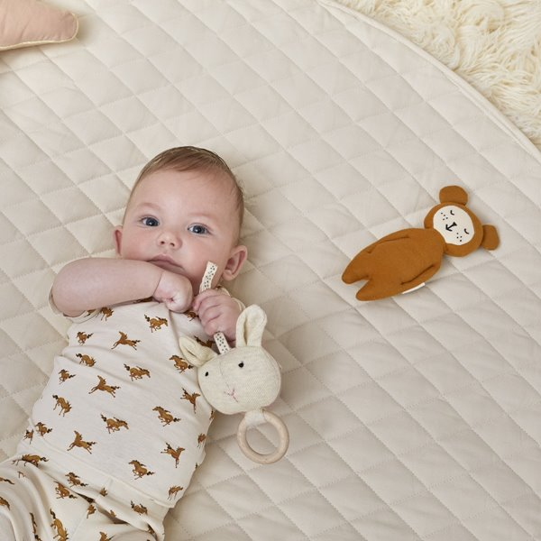 Quilted Baby Playmat - Linen
