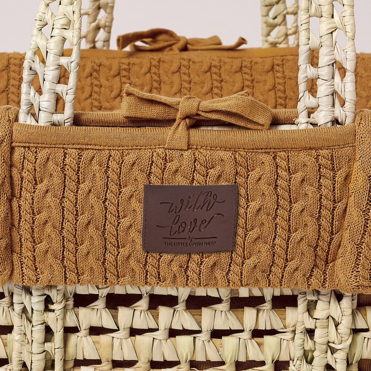 Natural Knitted Moses Basket in Honey | Moses Baskets ...