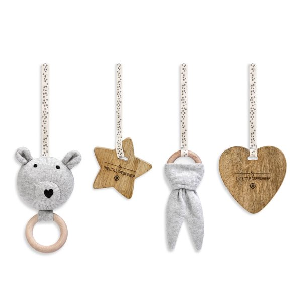 Curved Wooden Baby Play Gym & Charms Set  - Bear Love