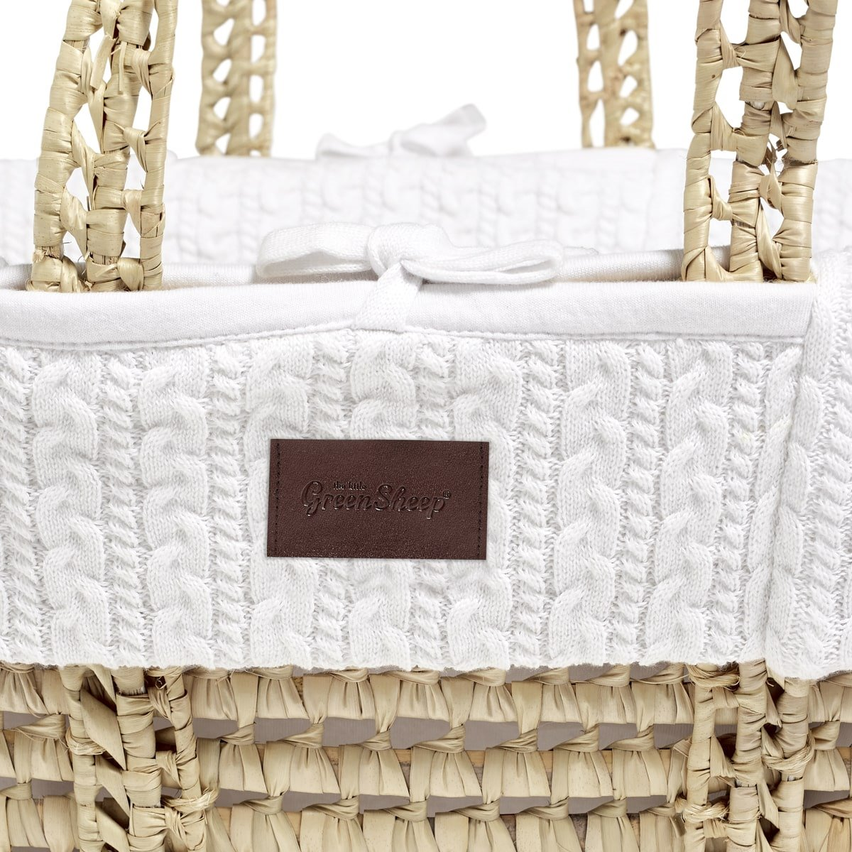 Natural Knitted Moses Basket in White | Moses Baskets ...