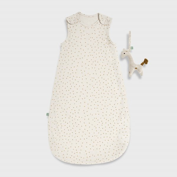 Organic Baby Sleeping Bag 1 Tog - Linen Rice