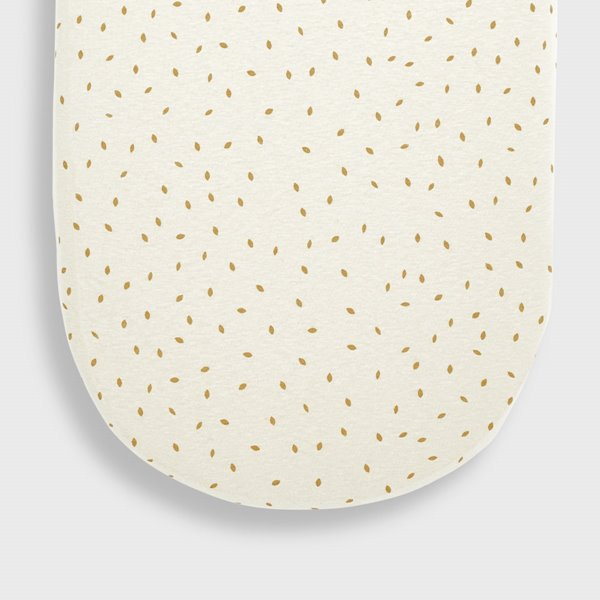 Organic Moses Basket Fitted Sheet - Linen Rice