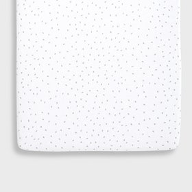 Organic Crib Fitted Sheet - White Rice