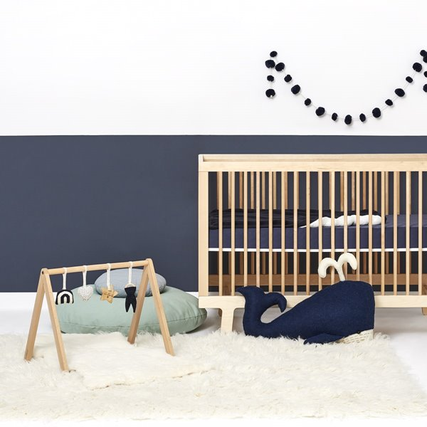 Wooden Baby Play Gym & Charms Set - Rainbow Midnight