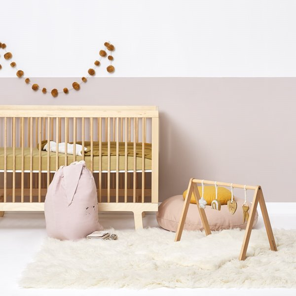 Wooden Baby Play Gym & Charms Set - Rainbow Honey