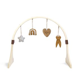 Curved Wooden Baby Play Gym & Charms Set - Rainbow Honey