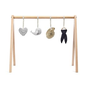 Wooden Baby Play Gym & Charms Set - Ocean Whale