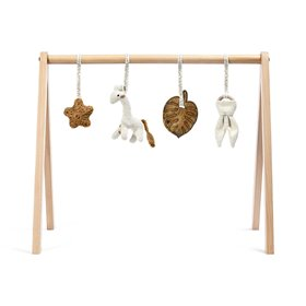 Wooden Baby Play Gym & Charms Set - Safari Giraffe