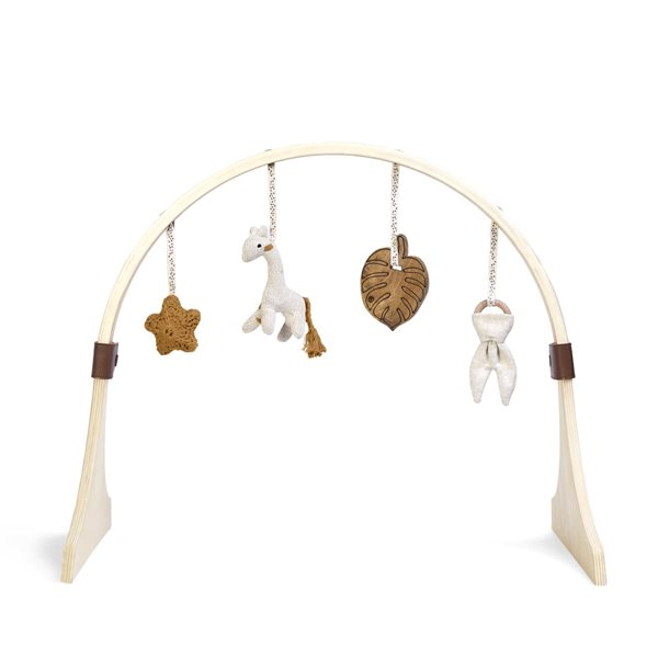 Curved Wooden Baby Play Gym & Charms Set - Safari Giraffe