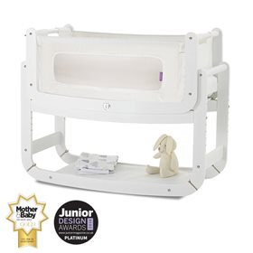 SnuzPod2 Bedside Crib 3 in 1 Eco-White